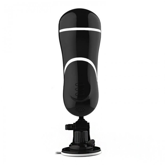Mizzzee Interactive Moaning Vibration Cups (Chargeable - Black)
