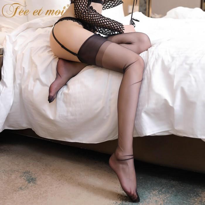 FEE ET MOI Inelasticity Nylon Long Stockings (Black)